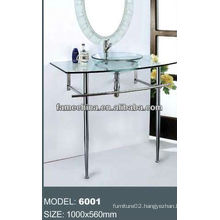 2013 Glass bathroom vanity glass cabinet with stainless steel bracket outdoor glass vanity