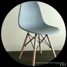 2018 Cheap New Design PP Seat Beech Wood Leg Restaurant Bar Chair
