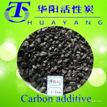 Conteúdo de enxofre 0,24% aditivo de carbono preto 3-5mm