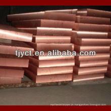Placa de cobre grossa de 50mm