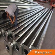 Vente chaude de haute qualité Q235 4 m 5 m 6 m 7 m 8 m pôle galvanisé pour l'éclairage de plus de 25 ans