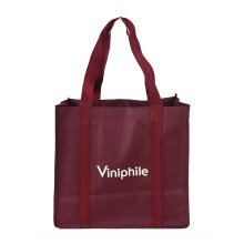 6 bottle wine promotional pp non woven folding shopping carry bag