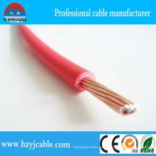 Aislamiento rojo del PVC 0.75mm2 300 / 500V eléctrico solo cable