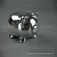 Керамическая гальванизирующая Lipely Piggy Bank, Silver Coin Bank