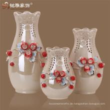 China Keramik Malerei Designs Pomegrate Blume Vase gesetzt