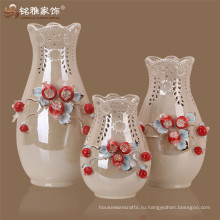 Китай керамические образцы живописи Pomegrate цветочная ваза комплект