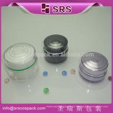 China quente vendas cosméticos creme frasco de embalagem de embalagem forma redonda 15ml 30ml 50ml acrílico creme jar embalagem de cosméticos
