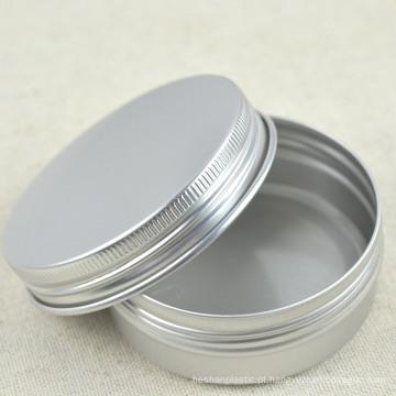 Lata de alumínio de prata com tampa de parafuso