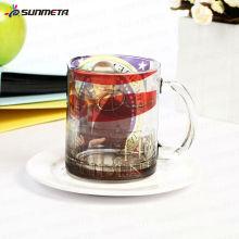 Sunmeta 11oz Пустая кружка для сублимации из стекла, сделанная в Китае по конкурентоспособной цене