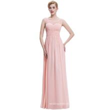 Starzz 2016 barato Simple rosa suave sin mangas V espalda vestido de dama de honor ST000061-3