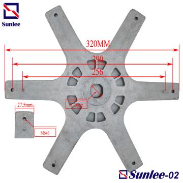 Sechseckige Flanschplatte Aluminium-Druckgussteile