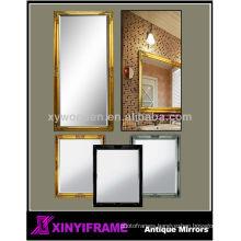 Gold wood rectangle bathroom mirror fogless shower mirror
