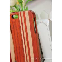 Caso de madeira da venda quente para o iPhone / a melhor qualidade para a tampa de bambu do caso de madeira do iPhone