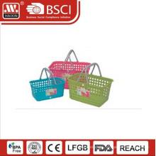 plastic basket w/handles