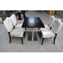 Modern durable restaurant table and chair set XY0181