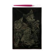 Arte de la hoja de oro suministra papel Manualidades tarjetas de rascar Garfield