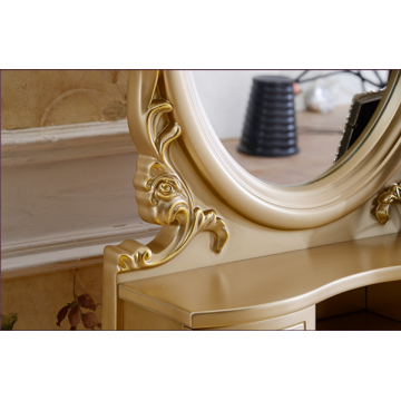 Luxury golden modern dresser cabinet design dresser table for bedroom