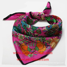 Bufanda de seda Fábrica personalizada Impresión señoras Cravats