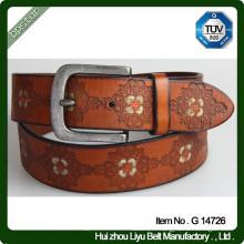Ceinture en cuir peint à la main Vintage Belt