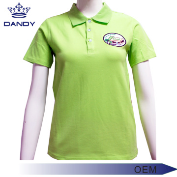Green Pique Uniform Polo-Shirts für Frauen