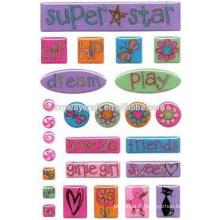 Sticker en résine transparente pour les enfants