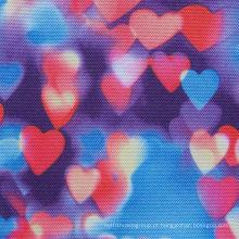 600d de alta densidade coração impressão tecido de poliéster com PVC / PU