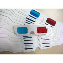 Red/Blue Lens Paper 3D Glasses, MOQ 5000PCS (3D013)