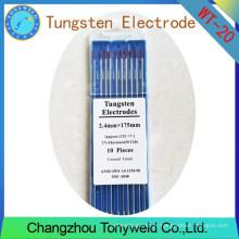WT-20 2% de eletrodos de tungstênio TIG de 2.4mm 3/32 '' Thoriated