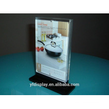 Strong Stand Clear Acrylic Menu Display Holder