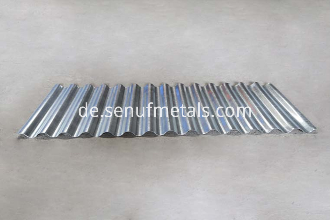 Corrugated roofing machine samples