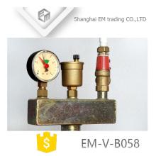 EM-V-B058 Chauffage par le sol en laiton Soupape de sécurité Ensemble de sécurité de chaudière à trois pièces