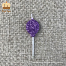 Glitter Power Balloon Shaped Wholesale Birthday Candle in Stock