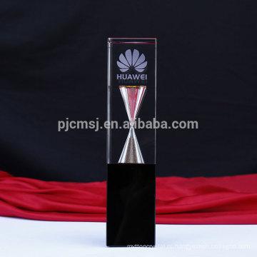 Самая последняя конструкция нового типа кристаллический трофей с песочными часами