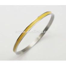 316L Edelstahl dünne gelbe Emaille Armbänder Armbänder