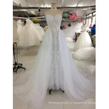 2017 fábrica verdadera del vestido de boda del vestido nupcial de la muestra