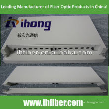 Panneau de raccordement fibre optique coulissant en rack de 19 po '1U avec tiroir avant amovible
