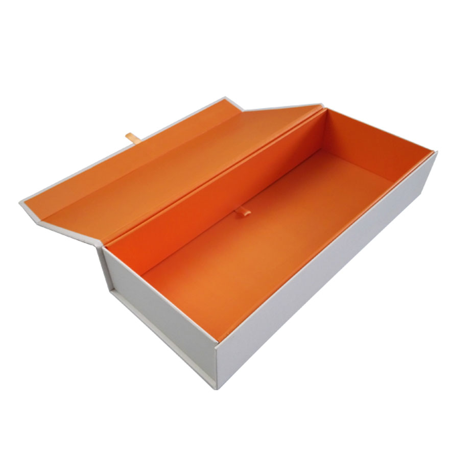 Folding Custom Orange Gift Box
