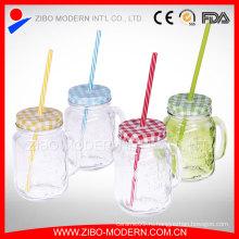 16 унций Очистка пользовательских соломы Китае оптовый Mason Jar Handle