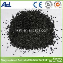 черный порошок на основе угля и гранулированного активированного угля в химическом производстве