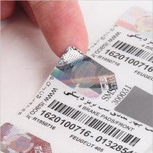 Custom Made Serial Number Qr Code Hologram Sticker Barcode Label for Anti-Fake