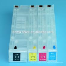 4цвета пустой Заправка чернила картридж для HP 970 971 для НР Officejet x451dn x551dw принтеров