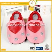 2015 heißes Verkaufsherzmuster bequemes echtes Schaffell reales Kindleder für Schuhe