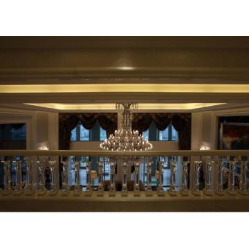 high glass crystal stair railing