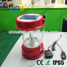 portable High quality led lantern with solar camping lantern usb charger