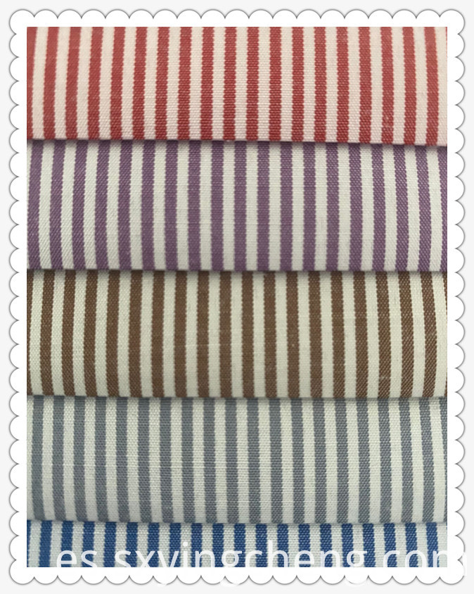 80% Polyester 20% Cotton Stripe Fabric