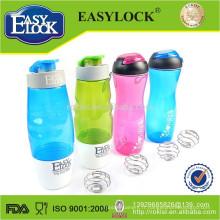 Bouteille de shaker de sport en plastique sans BPA en gros