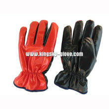 Roter Nitril-lamellierter voller Acrylstapel-Winter-Handschuh-5403. Rd
