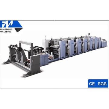 Máquina de impresión flexográfica de 6 colores