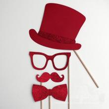 O partido fornece a decoração falsificada da novidade dos suportes da foto do bigode (SP-106)