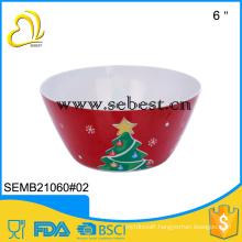 meamine noodle bowl melamine bowl soup bowl christmas bow